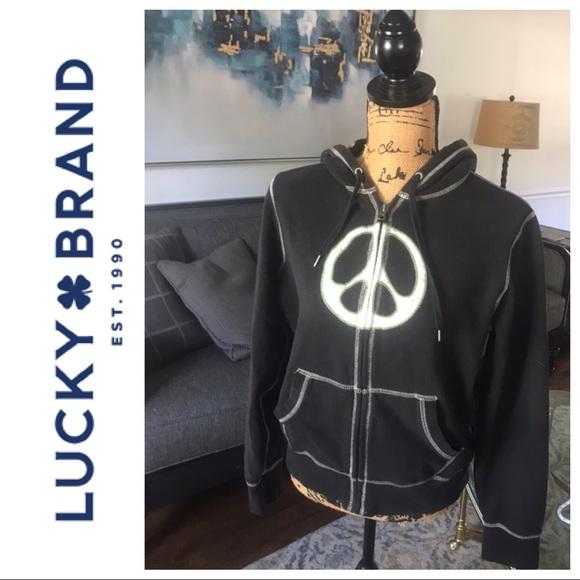 Lucky Brand Tops - Lucky 🍀Brand Peace Hoodie
